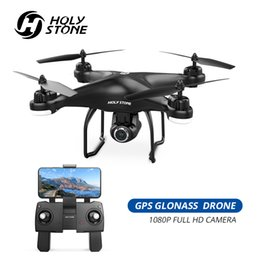 gps follow me drone Australia - Holy Stone GPS Drone FPV with 1080p HD Camera Wifi RC Drones Selfie Follow Me Quadcopter GPS Glonass Quadrocopter 300M T191111