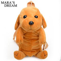 Dog Zipper Australia - Mara's Dream 2019 Women Backpack Schoolbag Velour Cute Dog Shape Corduroy Zipper Child Backpack Female Vintage For Girl