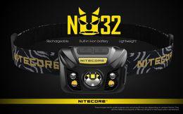 Wholesale Nitecore Headlamp NU32 CREE XP-G3 S3 LED 550 Lumens High Performance Rechargeable Headlamp Built-in Li-ion Battery