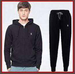 Hoodies e Moletons dos homens novos Sportswear Homem Polo Jaqueta calças Jogging Jogger Conjuntos de Gola Alta Sports Fatos de Treino de cavalo Suor Ternos venda por atacado