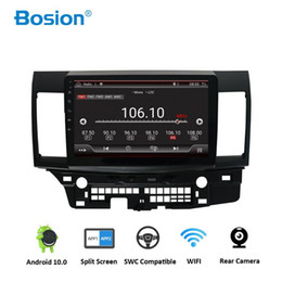 Discount 3g x videos Bosion Android 10.0 Car DVD for MITSUBISHI LANCER 10.1 inch 2 DIN 3G 4G GPS radio video player with Capacitive 2007-2018