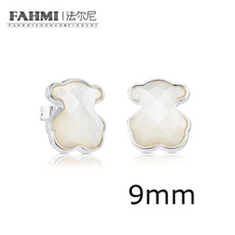 China FAHMI 100% 925 Sterling Silver Exquisite Style Mother-of-pearl Earrings Sweet Temperament Earrings Female 815113500 Original cheap mother pearl crosses suppliers