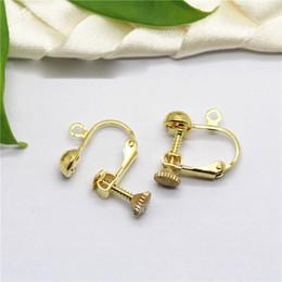 Diy copper earrings online shopping - Diy Earring Accessories MM Spiral ear clip French screw ear nail pack adjustable earless ear nail