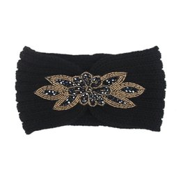 Chinese  1Pcs Women Knitted Headbands Women Winter Warm Crochet Head Wrap Wide Hair handband with Accessories hair bands for lady manufacturers