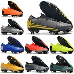 32ee908732b Mens Low Ankle Football Boots CR7 Mercurial Vapors VII XII Elite SG Soccer  Shoes Original Superfly VI Neymar NJR ACC Soccer Cleats