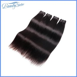 Wholesale beautysister hair products a brazilian straight human hair bundles g g natural black color short hair weaves for summer