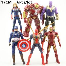 Figures Australia - 6 Style Avengers 4 Captain Marvel Action Figures Doll toys 2019 New kids Avengers Endgame Captain Marvel Thanos Iron Man spiderman