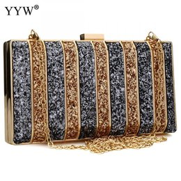 clutches for evenings UK - Luxury Women Bags Designer Evening Party Bag For Female Gold Mini Sequins Clutch Bag Lady's Handbag Purse Chain Crossbody Bag Y190627