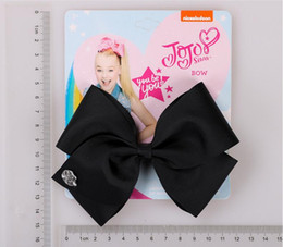 Children Hair Ponytail Australia - 5 Inch Jojo Siwa Hair Bows Jojo Bows With Clip For Baby Children Bow 35colors Hair Pins epacket free shipping