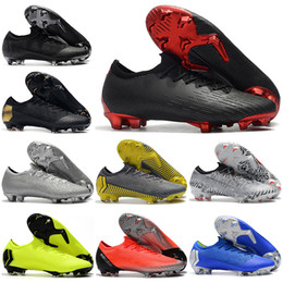 aff3b7ff1b2 Mens Low Ankle Football Boots CR7 Mercurial Vapors XII VII Elite SE FG  Soccer Shoes X PSG Superfly 360 Neymar NJR Soccer Cleats