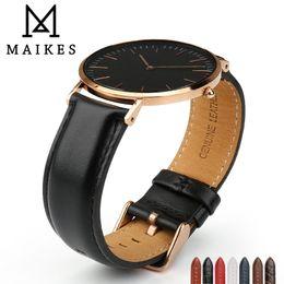 $enCountryForm.capitalKeyWord Australia - Maikes Watch Accessories Watch Strap For Daniel Wellington Men Women Classic Black Watch Band With Rose Gold Clasp Wrist Band T190620