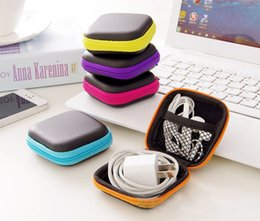 classic earphones Canada - Headphones Earphone Cable Storage Hard Box Case Pouch Bag SD Card Hold Box Wholesale 2020