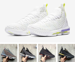 Bruce Spring Australia - Cheap new mens lebron 16 basketball shoes Purple Green All Red Orange Yellow Gold Bruce Lee youth kids lebrons XVI sneakers tennis