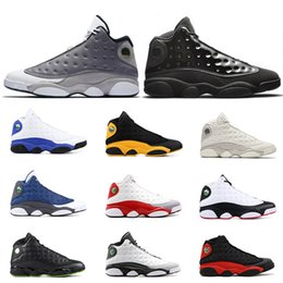 Wholesale 13s mens basketball shoes Cap and gown Atmosphere Grey DIRTY BRED CHICAGO HYPER ROYAL GREY TOE BLACK CAT OLIVE men sports sneakers