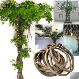$enCountryForm.capitalKeyWord Australia - High Imitation Rattan Decoration Artificial Flowers Green Leaves Rattan Branches Home Wedding Hotel Ceiling Wall Accessories J190711