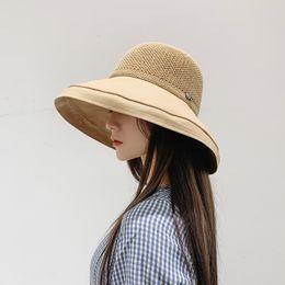 Floppy Beach Hat Large Australia - Fashion 4 Colors Women Wide Brim Hat Floppy Derby Large Beach Sunhat Straw Free Shipping