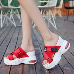 Slide Sandals Australia - 10cm Hight Increase Women Summer Slippers Slide Sandals Women Casual Shoes Lady Creepers High Heels Slides Platform Wedges
