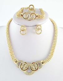 $enCountryForm.capitalKeyWord Australia - Free Shipping 18k Gold Plated Chunky Fashion Jewelry ,African Costume Jewelry Set Necklace Fashion For Women