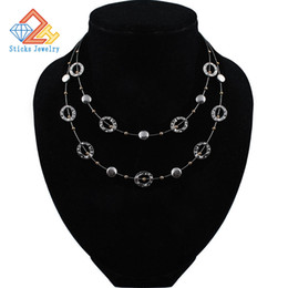 $enCountryForm.capitalKeyWord Australia - Charm Two Layer Necklace European and American Fashion Jewelry Big Cable Linking Wholesale