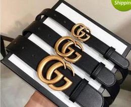 Z Buckle Leather Belt UK - 3.8 3.4 2.3 Smooth leather buckle belt men letter Z button copper layer cow butcher's waist take the lead youth business belts