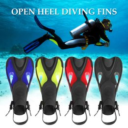 $enCountryForm.capitalKeyWord NZ - Adults Diving Fins Open Heel Flippers Adjustable Strap Swimming Snorkeling Scuba Equipment diving swimming shoes water sports