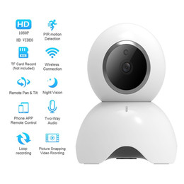 Wholesale 2.0MP CMOS 1080P Wireless Indoor Security Camera, Cool Dog Dome Camera with Micro SD Card Slot, Motion detection and Alarm recording