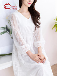 $enCountryForm.capitalKeyWord UK - Fairy2019 New Dress Lace Pattern Summer Temperament Thin And Very Immortal Real France Niche Chinese Bellflower In Longuette Woman 983721