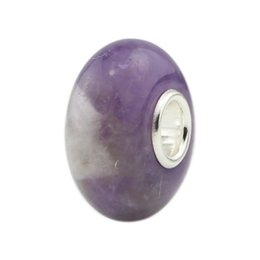 $enCountryForm.capitalKeyWord UK - DIY Jewelry 925 Sterling Silver Natural Purple plane stone beads Charm Bead Fit European Troll Bracelet Jewelry Making