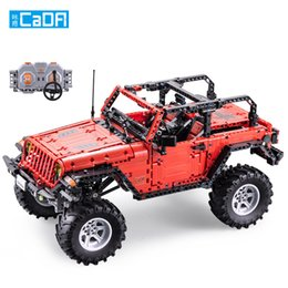 Discount unassembled rc kits - SY DIY RC Car Building Blocks Toy, Jeep Wrangler SUV, with Differential Lock, 50° Climbing, Dual Motor Independent Drive