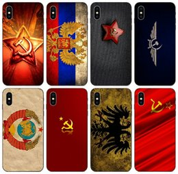 7s cases NZ - [TongTrade] Retro Russian Flag Case For iPhone 11 Pro X XS Max XR 8s 7s 6s Plus Samsung A3 S10 Honor 10 20 Lite Sony Xperia XA1 Fashion Case