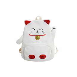 $enCountryForm.capitalKeyWord Australia - Cute Cartoon Backpack Cat Ear Girl Schoolbag For Teenage Women Back Pack Canvas Animal Shape School Backpack Famale Teen Bagpack Y19061102