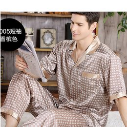 Yarn Weave 100% Cotton Pajama Set For Men Comfy Sleepwear Pajamas Mens Sexy Modern Style Soft Cozy Plus Size Nightgown Pyjamas Men's Sleep & Lounge