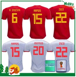8634e30d6 2018 Spain Jersey home Away Soccer Jersey Spain home soccer shirt 2019 women  ASENSIO MORATA ISCO A.INIESTA Football uniforms sales