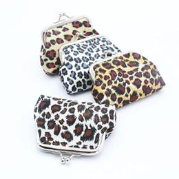 Leopard Coin NZ - Innovative Leopard Pattern Coin Purses Mini Lovely Children's Girl Women Lady Wallet Printing Earphones Storage Bag Buckle Clips