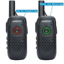 ptt radios Australia - 2pcs ABBREE AR-Q2 Mini Walkie Talkie Radio Station Ultra-thin Dual PTT USB Charge Two Way Radio Portable VOX