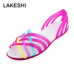 c720e71a2 Cotton Candy shoes online shopping - 2019 Women Sandals Summer Candy Color  Jelly Shoes Beach Flat