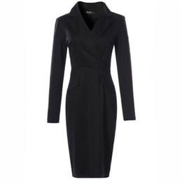 $enCountryForm.capitalKeyWord Australia - Women Winter Autumn Dress Suits Bodycon Party Club Dresses Nice Fall Sexy Vestidos Long Sleeve Belt Evening Black Work Office Dress Suit