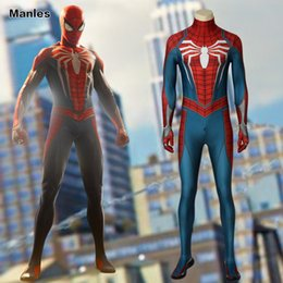 spiderman cosplay 2019 - S4 Game Marvel PS4 Game Marvel's Spider-Man Costume Homecoming Cosplay Carnival Adult Superhero Spiderman Jumpsuit