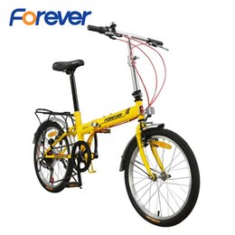 steel road bicycle Australia - wholesale Folding Bicycle Steel Special Frame Fold Cycle With V Brake Lightweight Cycle Mini Foldable Bike in 7 speed 20 Inch MTB