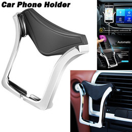 Wholesale 2019 Car Air Vent Phone Mount Bracket Holders Racks Gravity Mobile Phone Holder Stand Universal For iPhone GPS