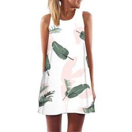 white midi pencil dress 2019 - Summer Women Sleeveless Flamingo Dress Sundress Boho Style Elegant Vestidos De Fiesta Beach Dress Femme Floral Women Dre