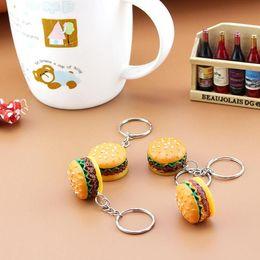 $enCountryForm.capitalKeyWord Australia - Hot Sale Food Burger Pendant Keychain Keyring Car Mobile Phone Bag Charm Keychain Key Chain Men and women WCW053