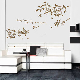 Bird Removable Wall Stickers Australia - Removable Wall Decal Sticker Branch Birds Art Decals Mural DIY Wallpaper for Room Decoration 60 * 75cm