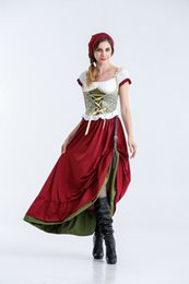 Bavarian costume women online shopping - Women Cosplay Dress Bavarian Traditional Costumes Theme Costume Germany Beer Festival Halloween Funny Sexy Hooded Tops with Bat Wings