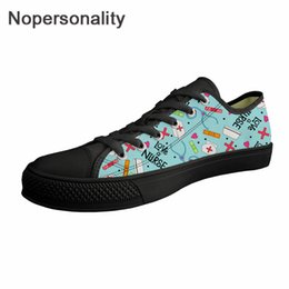 Ladies Canvas Shoes Australia - Nopersonality Classic Nurse Pattern Women Spring Shoes Flats Canvas Shoes Ladies Comfortable Sneakers Teenage Girls Solid