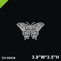 Iron Crystal Transfer Designs UK - Free shipping Butterfly iron on crystal transfers design hot fix rhinestone motif transfer on design rhinestones fix patches DIY DH9950#