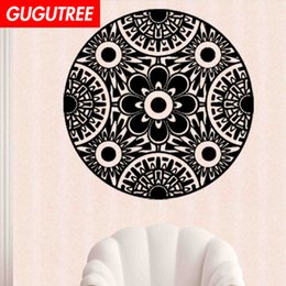 chinese famous paintings Australia - Decorate Home India Buddhism mandala flower art wall sticker decoration Decals mural painting Removable Decor Wallpaper G-1106