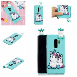 $enCountryForm.capitalKeyWord Australia - Back Case For Samsung Galaxy S9 Plus Pasted 3D Funny Panda Dog Cat Pineapple Sticking a Little Silicon Doll 61 Models Option