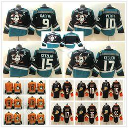 Anaheim Ducks 8 Teemu Selanne 9 Paul Kariya 10 Corey Perry 15 Ryan Getzlaf  17 Ryan Kesler Purple Orange Black Stitched Hockey Jerseys f8ea07e6b
