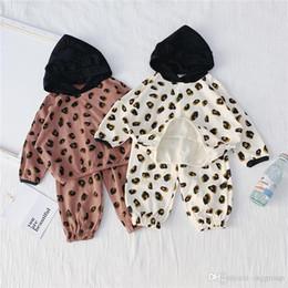 $enCountryForm.capitalKeyWord Australia - New Arrivals INS Little Kids Boys Girls Clothing Sets Autumn Leopard Designs Hoddies Sweatershirts with Pants 2Pieces Clothing Suits